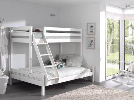 Stapelbed Triple 3-persoons hout - wit