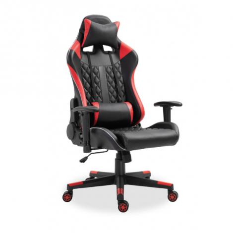 Gamestoel Nate met LED - rood/zwart