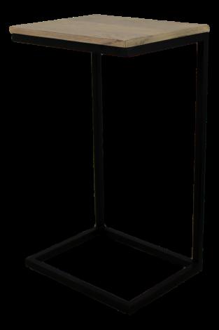 Bijzettafel Read - naturel / zwart - mangohout / ijzer