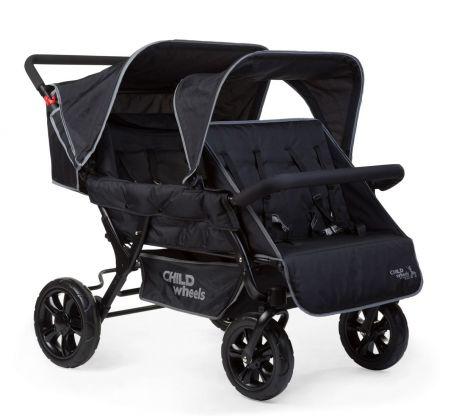 Meerling wandelwagen Two by Two voor 4 kinderen