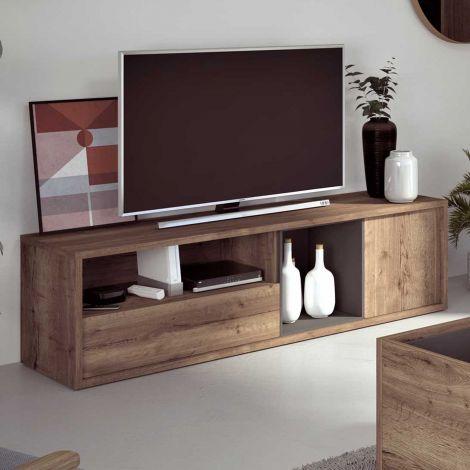 Tv-meubel Frame 177cm - donkere eik