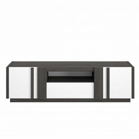 Tv-meubel Gaston 180cm - zwart hout/wit
