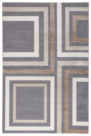 Vloerkleed Step A Grey 230x160 - grijs