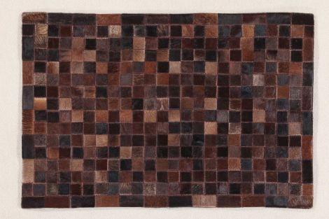 Vloerkleed In Leather Patchwork 200x140 - choco