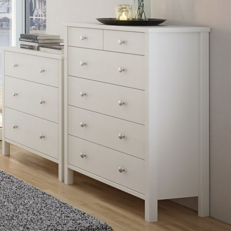 Commode Tarik 80cm met 6 lades - wit