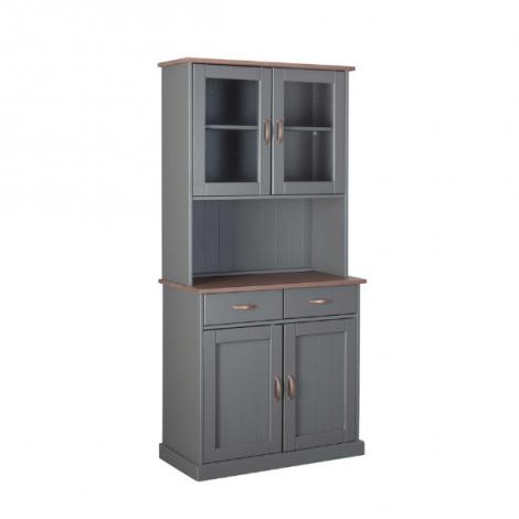 Buffetkast Cerci 90cm met 4 deuren & 2 lades - grijs