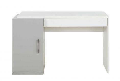 Bureau Hugo 126cm met 1 deur & 1 lade - grijs