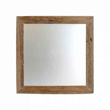 Wandspiegel Rustiek - 80x80 cm - drijfhout teak
