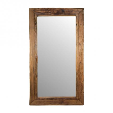 Wandspiegel Rustika 140x80cm – drijfhout/teak