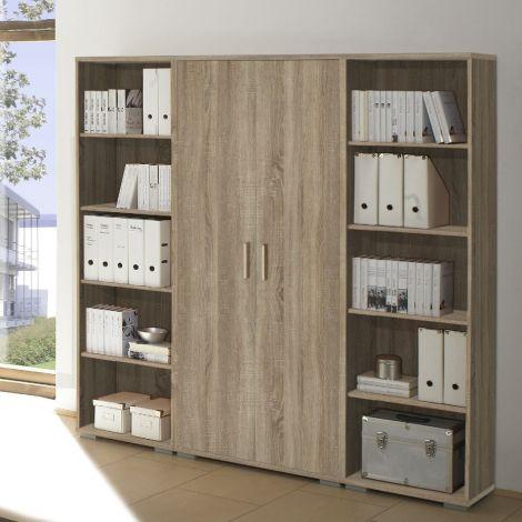Hoge boekenkast Olaph - eik