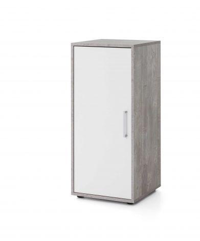 Kast Maxi-office 1 deur - beton/wit