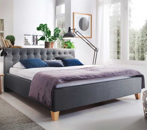 Bed Camille 180x200 - grijs
