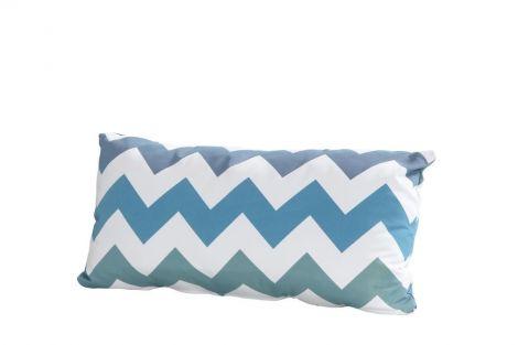 Kussen 30x60 - zigzag blauw