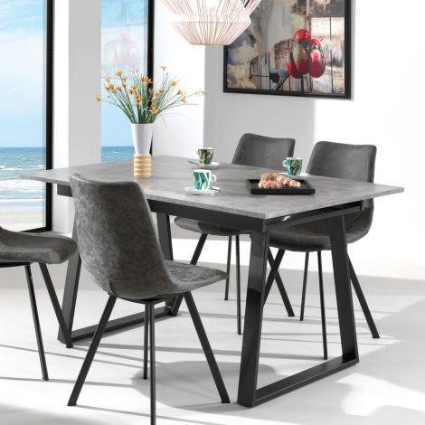 Uitschuifbare tafel Austria 180x90 industrieel - beton