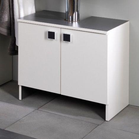 Wastafelonderkast Artem 59cm met 2 deuren - wit