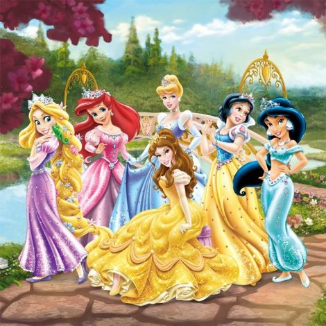 Canvas Disney Princess - Garden