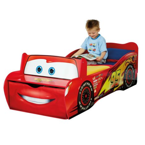 Peuterautobed Rood - Stoer Cars Kinderbed Autobed