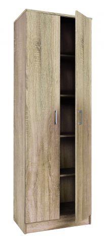 Opbergkast Ray 60cm met 2 deuren en 4 legplanken - sonoma eik