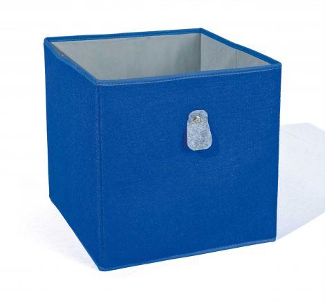 Opbergmand Widdy - blauw/grijs