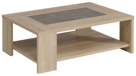 Salontafel Fumay 105x73 - bruin/beton