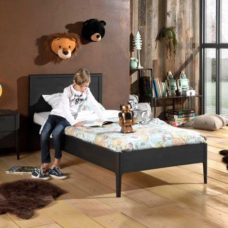Bed Azalea 90x200 cm - bruin/zwart