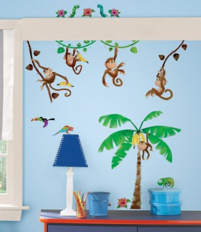 RoomMates muurstickers - Apen in de jungle