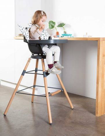 Evolutieve kinderstoel Evolu ONE.80° - antraciet/naturel