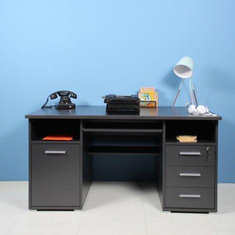 Bureau Beagle 145cm - antraciet