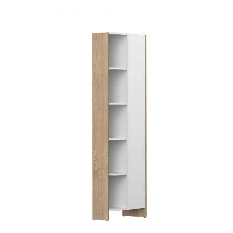 Kolomkast Biarritz 1 deur - wit/eik