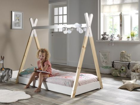 Tipi peuterbed 70x140 cm hout - Vipack