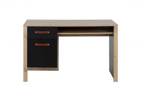 Bureau Liam 122cm met 1 lade & 1 deur - artisan eik