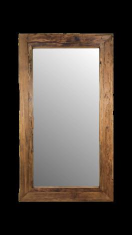 Wandspiegel Rustiek - 140x80 cm - drijfhout teak
