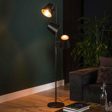 Staande lamp Artus 3x Ø18 - antraciet