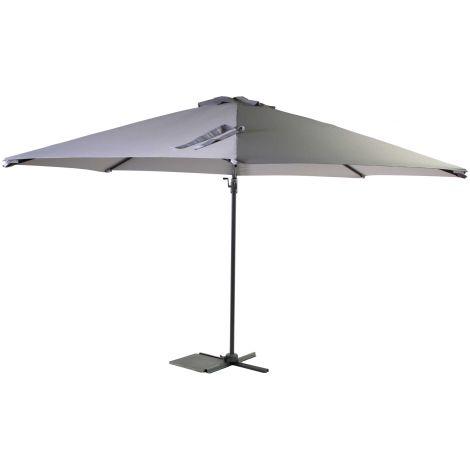 Parasol Borneo Ø350cm met kruisvoet en hoes - grijs