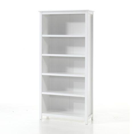 Boekenkast Stella wit 90cm breed, 190cm hoog
