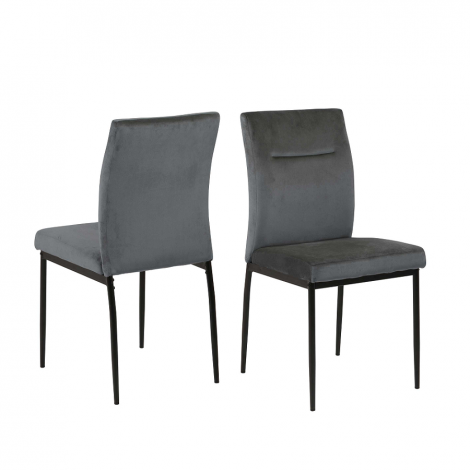 Set van 2 stoelen Deon - grijs