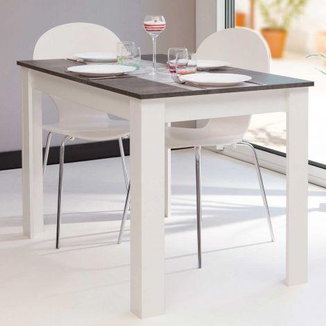 Eettafel Nice 110 cm - wit/beton