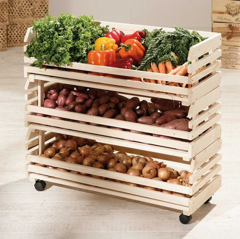 Groenter- en fruitrek groot - den