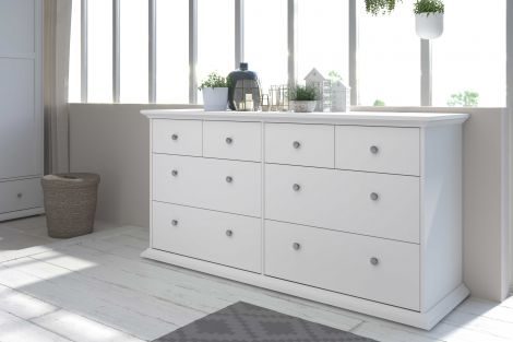 Commode Morgane 8 laden - wit