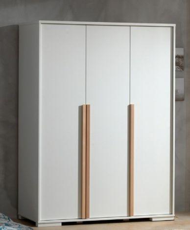 Kledingkast London 146cm met 3 deuren - wit