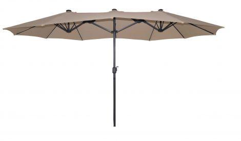 Dubbele parasol Malaga - taupe