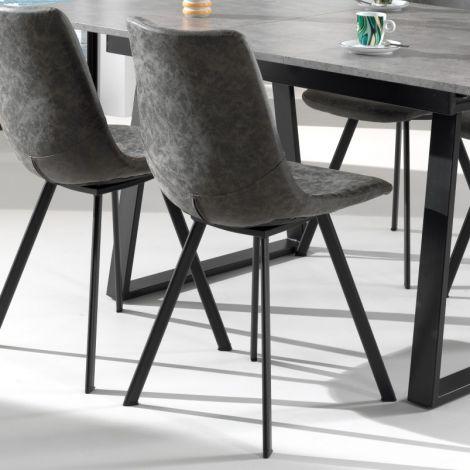 Set van 2 stoelen Norway - grijs
