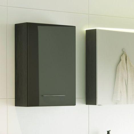 Hangkastje Florent 40cm 1 deur - grafiet/hoogglans grijs