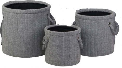 Set van 3 opbergmanden Knits - large