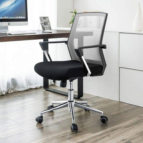 Bureaustoel Nico - grijs/zwart
