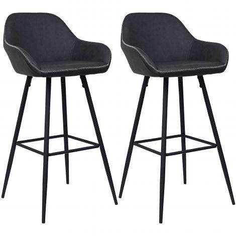 Set van 2 barstoelen Lounge
