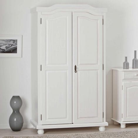 Kledingkast Bastian 104cm met 2 deuren - wit