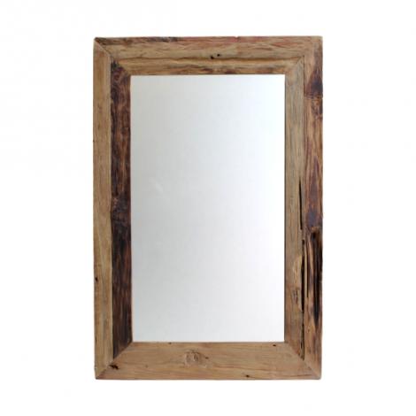 Wandspiegel Rustika 120x60cm – drijfhout/teak