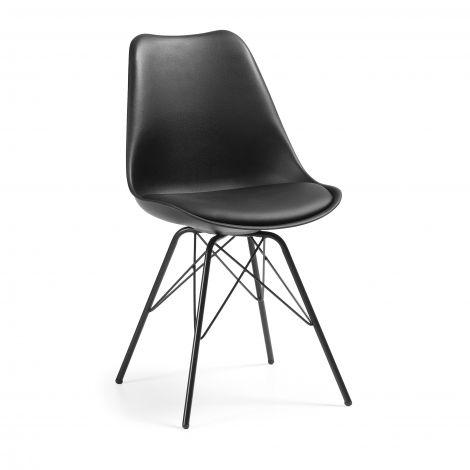 Set van 2 stoelen Ralf metaal/kunststof - zwart