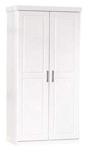 Kledingkast Leon 95cm met 2 deuren - wit